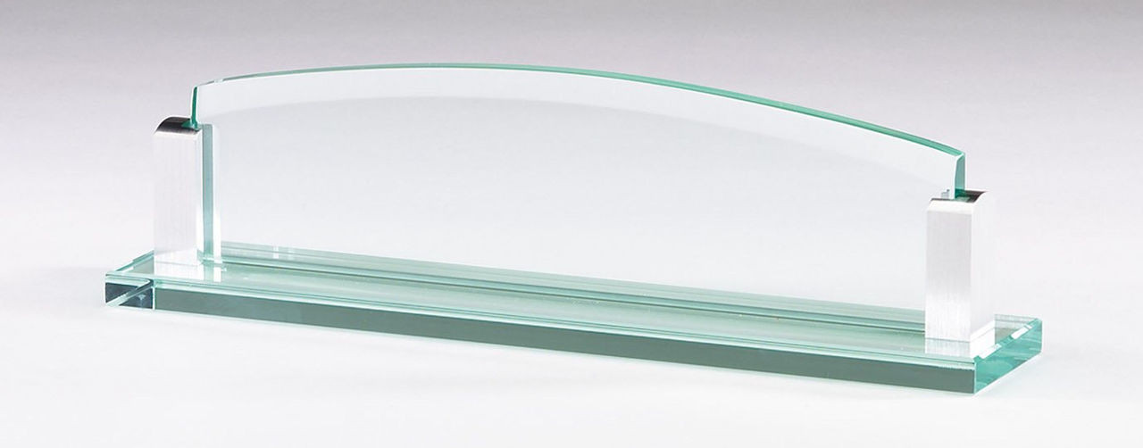 Jade Glass Name Plate