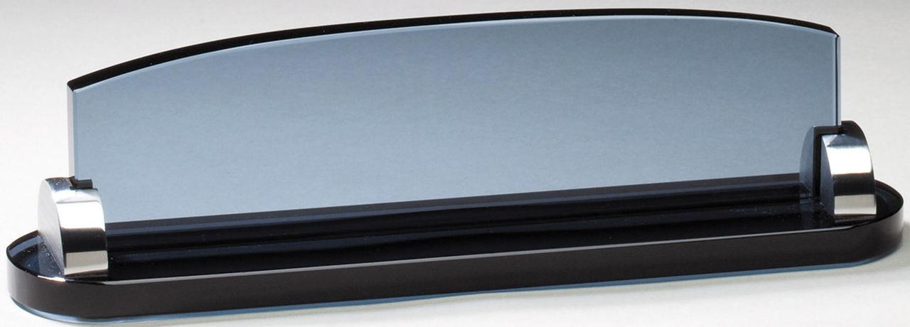 Smoked Glass Name Plate