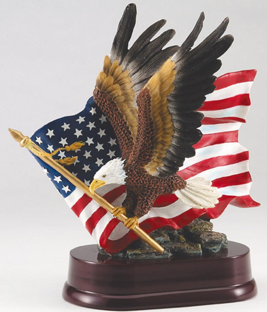 Full Color Eagle and Flag