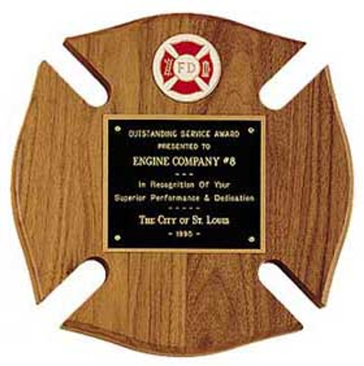Maltese Cross Plaque with color badge