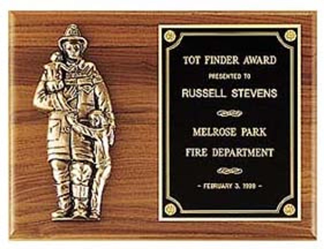 Tot Finder Fireman Plaque
