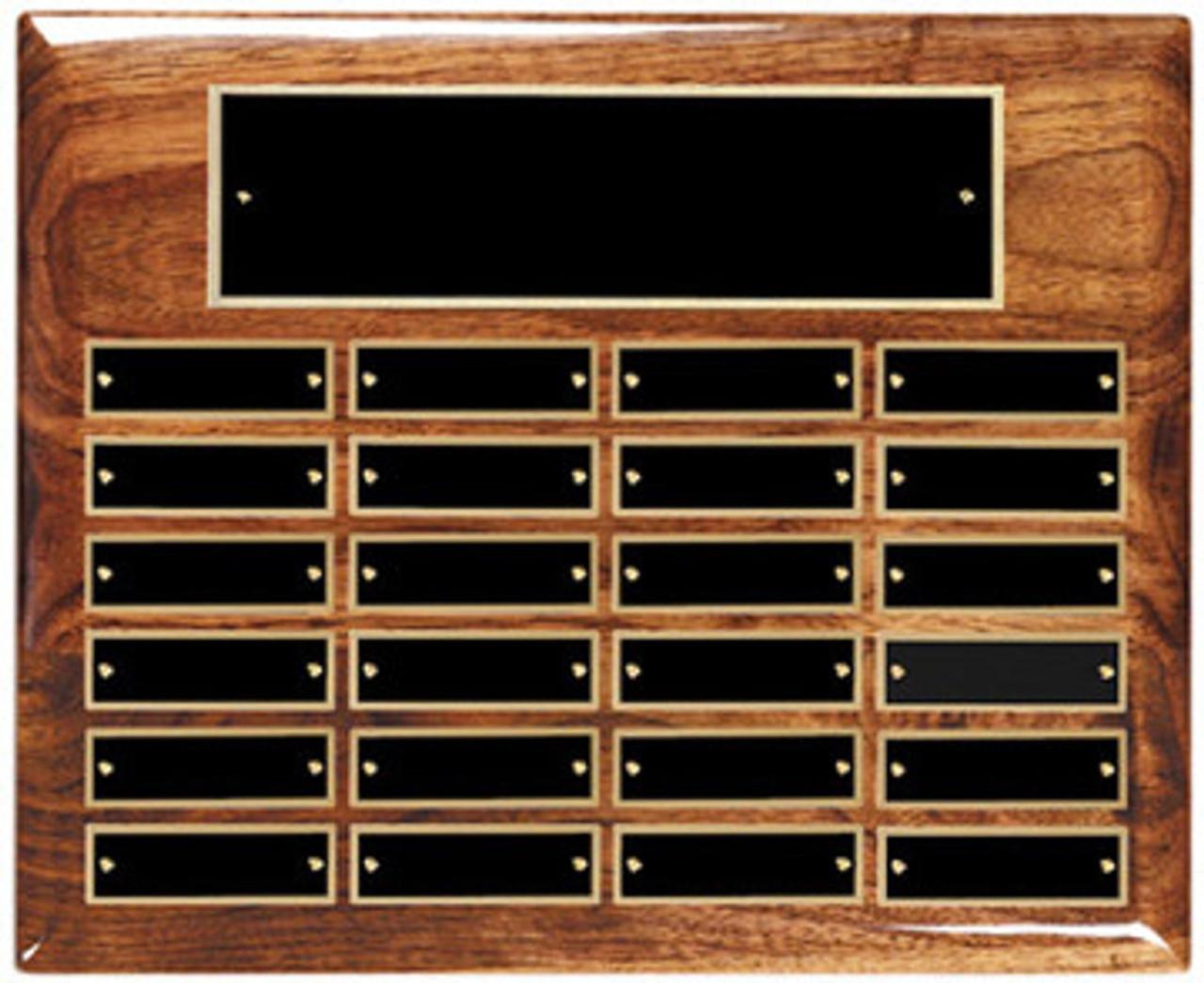 24 Plate Walnut Hi-Gloss Perpetual Plaque(Landscape)