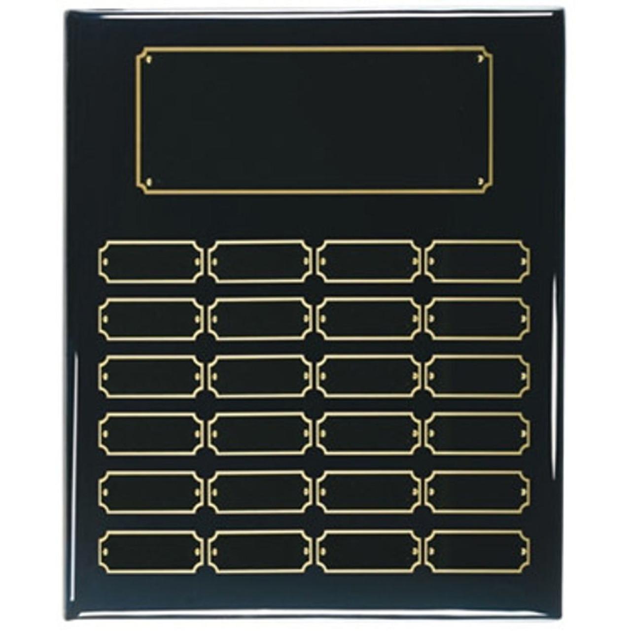 24 Plate Ebony perpetual plaque