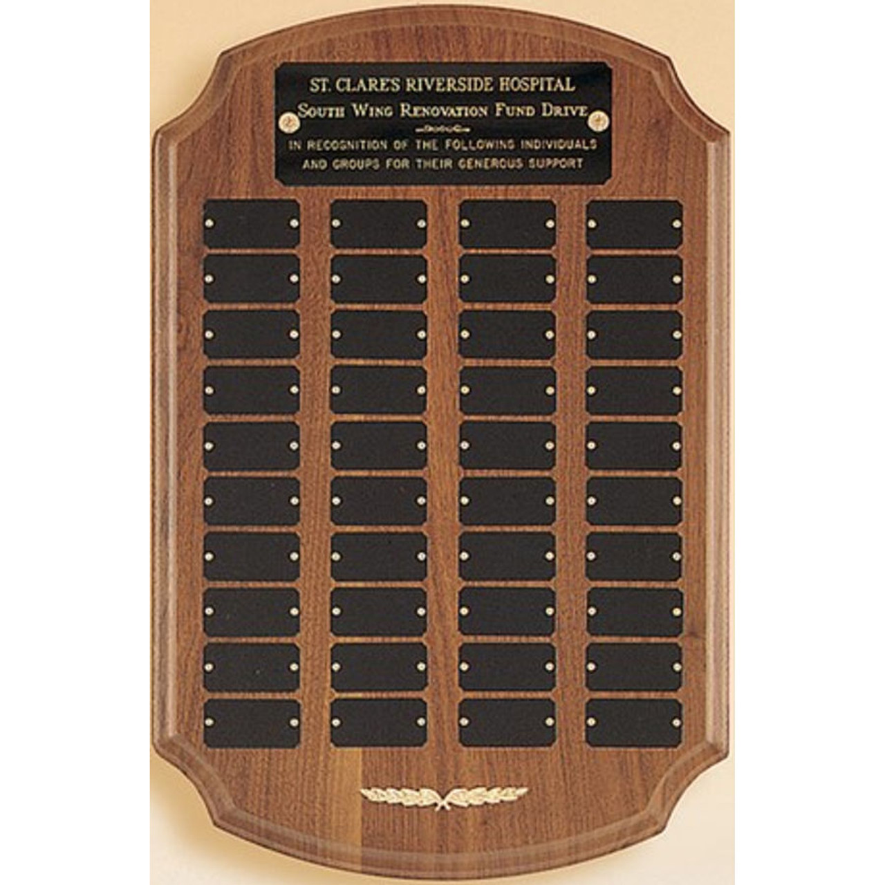 40 Plate Notched Corners Perpetual Plaque