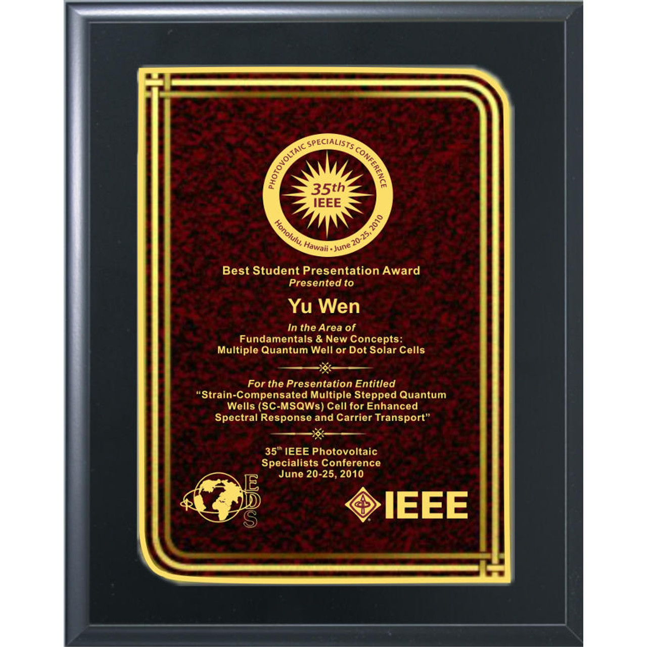 Red Infinity Plaque
