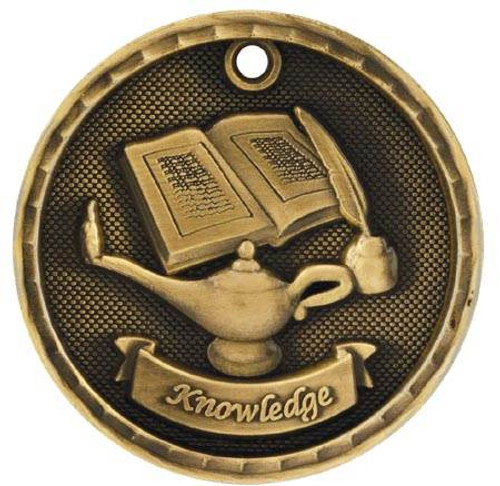 3D Lamp of Knowledge Medal