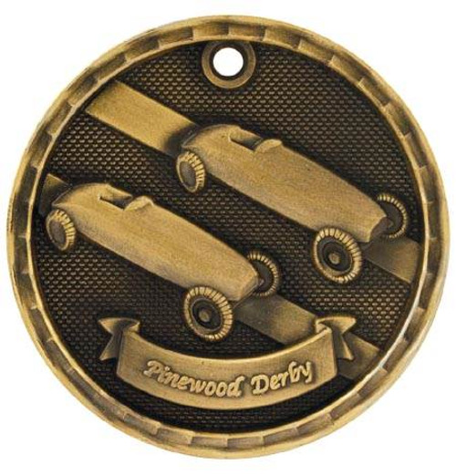 3D Pinewood Derby Medal