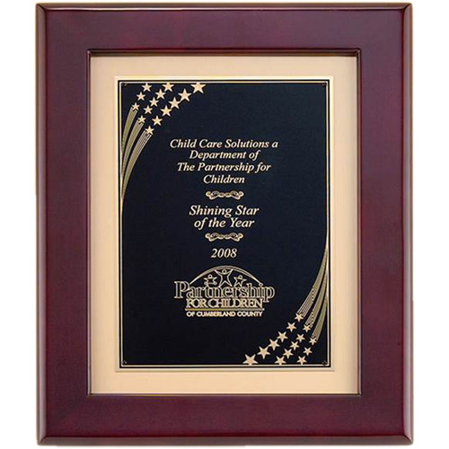 Shooting Stars on Gold Metal Plaque