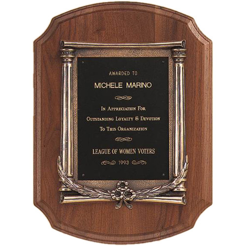 Walnut Scroll Plaque