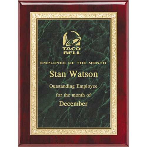 Green Marble Plaque