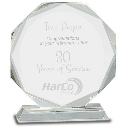 Retirement Octagon Crystal Tablet