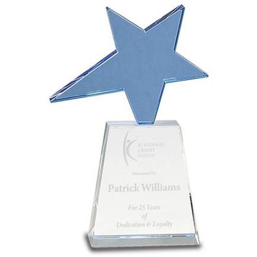 Blue Crystal Achievement Trophy