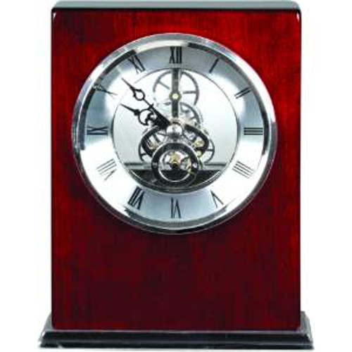 Rosewood Piano Finish Square Clock