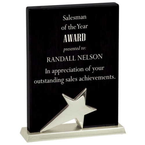 Black Star Stand-Up Plaque