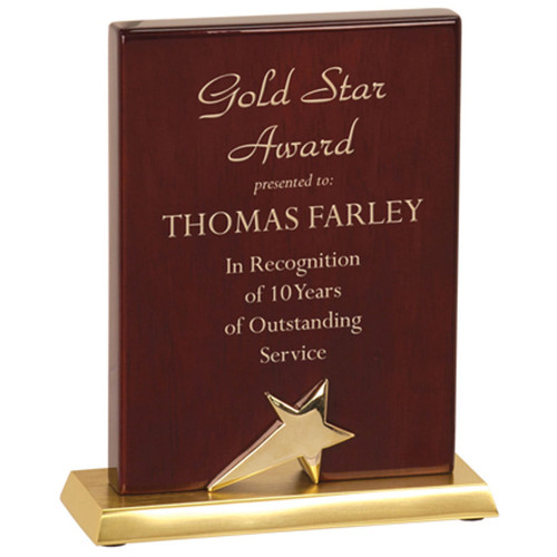 Rosewood Star Stand-Up Plaque