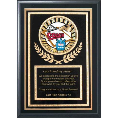 "5"" x 7"" Coaches Plaque"