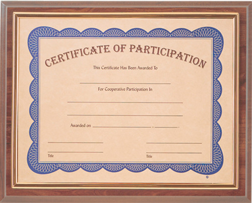 Cherry Slide-In Framed Certificate Plaque