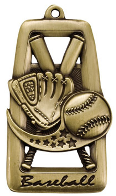 Tall Star Blast Baseball Medal