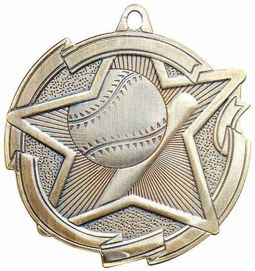 Star Baseball Medal