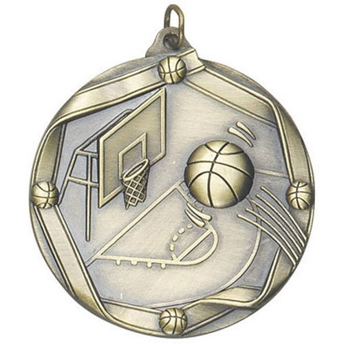 Ribbon Basketball Medal