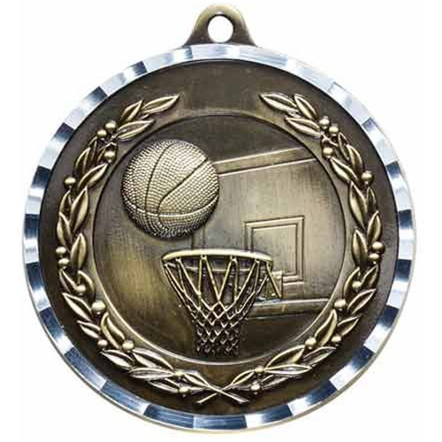 Diamond Cut Basketball Medal