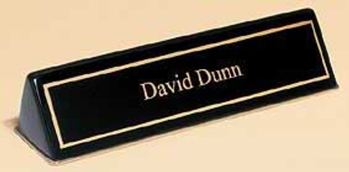 Black Name Plate