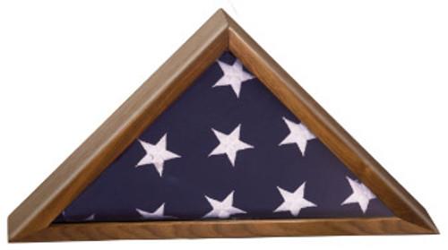 14 in Walnut Piano Finish Flag Box