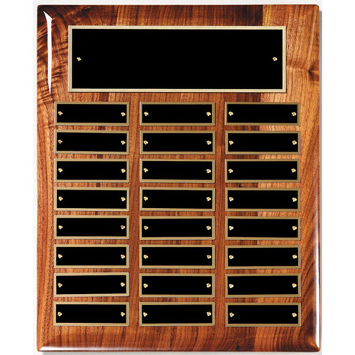 24 Plate Walnut Hi-Gloss Perpetual Plaque