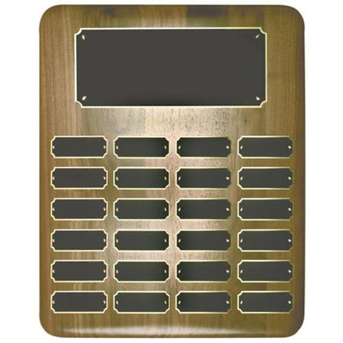 24 Plate Genuine Walnut perpetual plaque