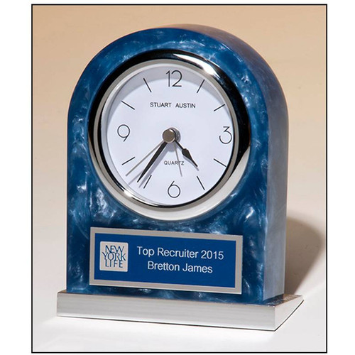 Blue Marble Acrylic Clock