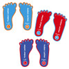 Foot-Shape Shoe Labels
