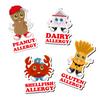 Allergy Alert Labels Waterproof for Children