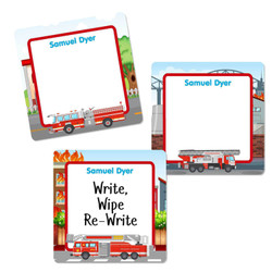 Large Square Write-On Name Labels