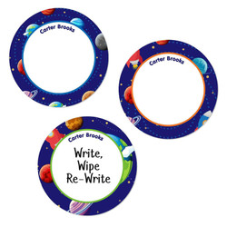 Large Round Write-On Name Labels