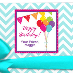 Birthday Gift Label