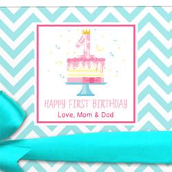 First Birthday Gift Label
