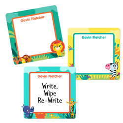 African Safari Square Write-On Labels