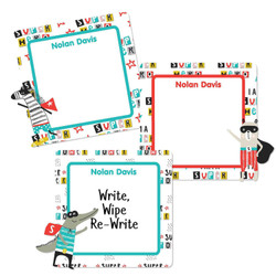 Animal SuperHeroes Square Write-On Labels
