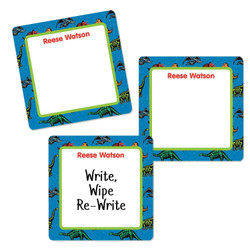 Dino Fossils Square Write-On Labels