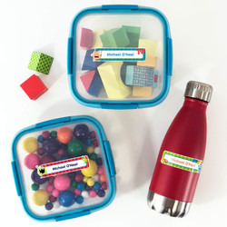 Lunch Container Waterproof Name Labels