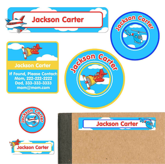 School Supply Name Labels