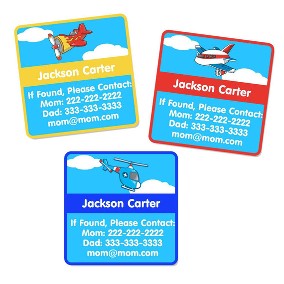 Airplanes Contact Labels