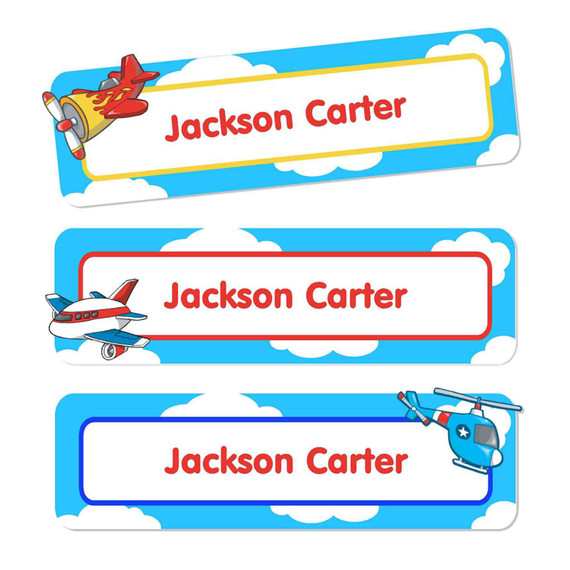 Airplanes Oversize Rectangle Labels