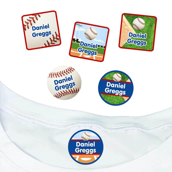 Baseball Iron On Name Labels