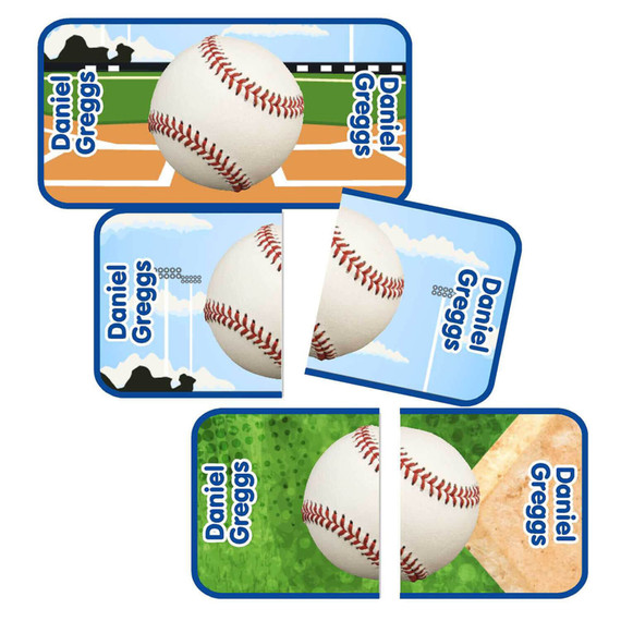 Baseball Shoe Matching Shoe Labels with Name