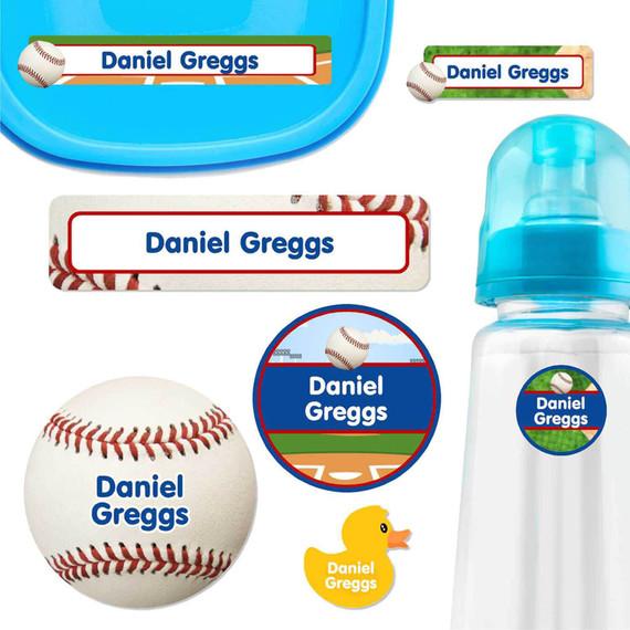 Baseball Baby Label Pack