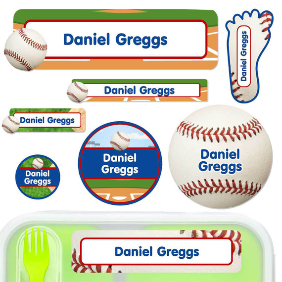 Baseball Labels for Daycare