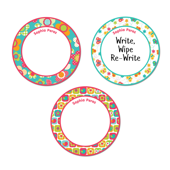 Small Round Write-On Name Labels