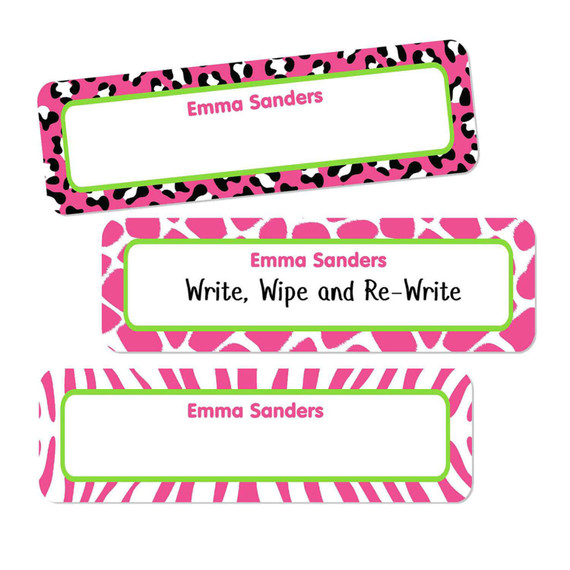 Small Rectangle Write-On Name Labels