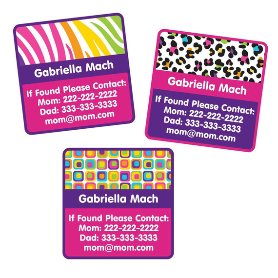 Animal Print Wild Thing Contact Labels